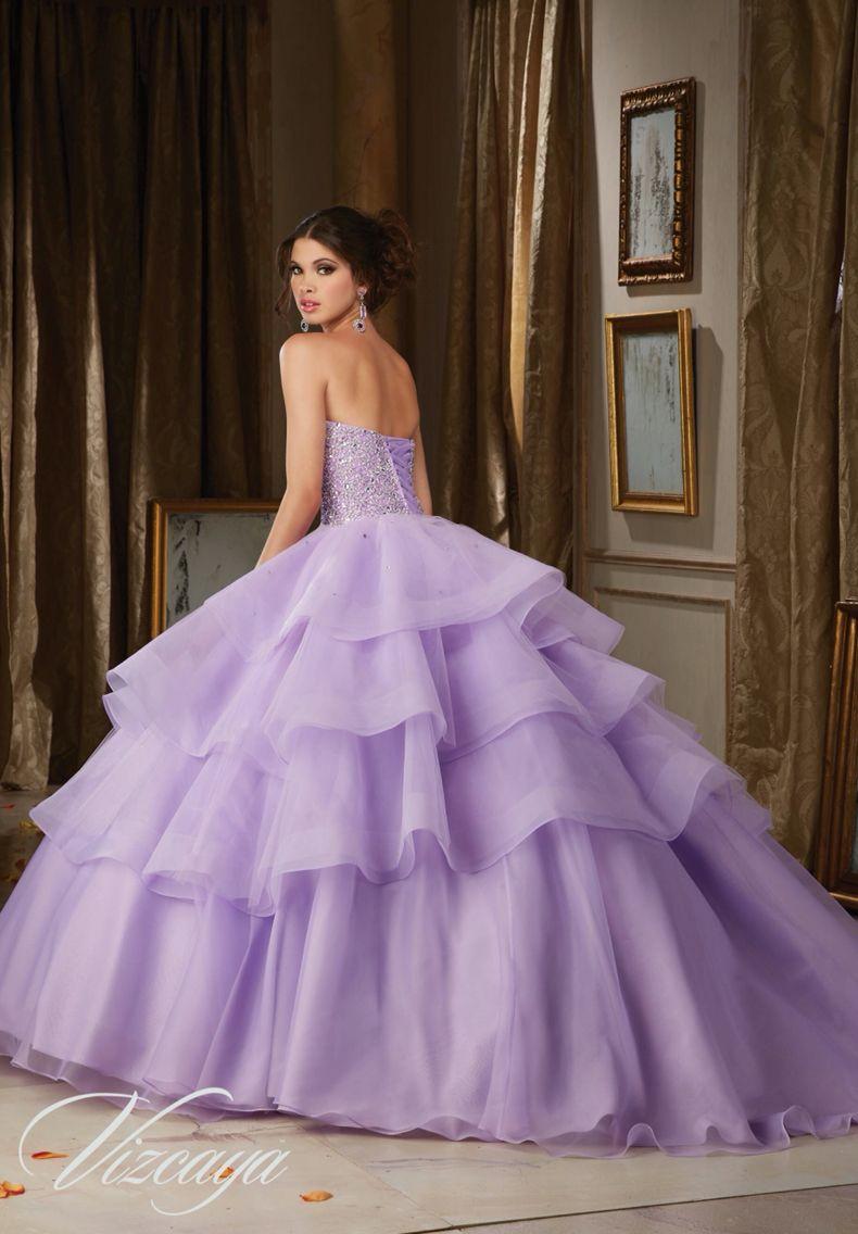 Morilee Vizcaya Quinceanera Dress 89111 CRYSTAL MOONSTONE BEADING ON ...