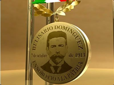 Un 28 de enero de 1953 se publicó el decreto por el cual se creó la medalla Belisario Domínguez, máxima condecoración otorgada por el Senado de la República que ha distinguido a los más destacados personajes de la cultura en México.