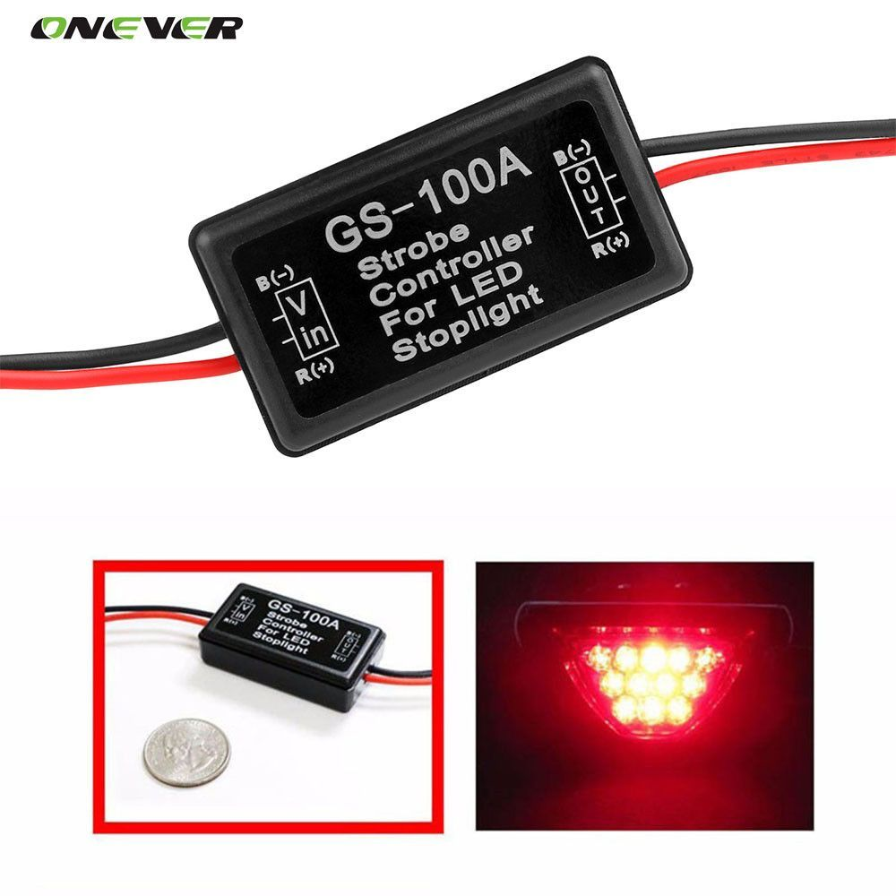 GS-100A 12--24V Flash Strobe Controller Flasher Module for LED ...