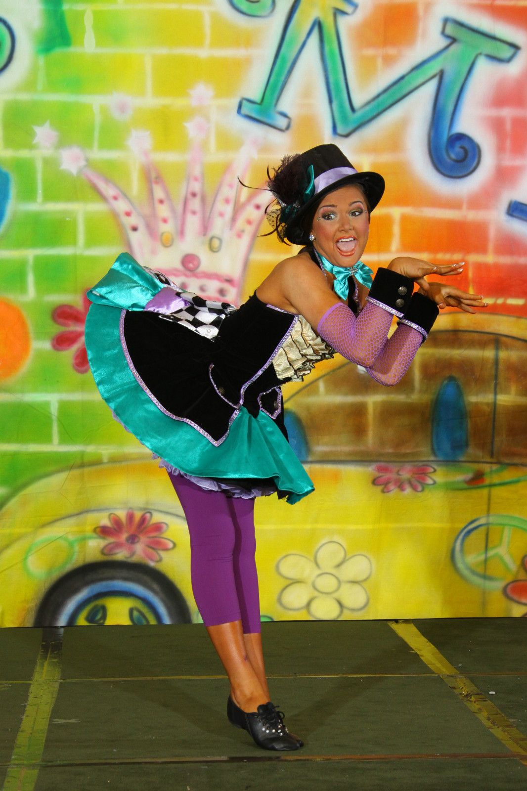 72458d60cb92 Glitz Pageant Costume Outfit Dress OOC Mad Hatter Music Mix 10 12 14 ...