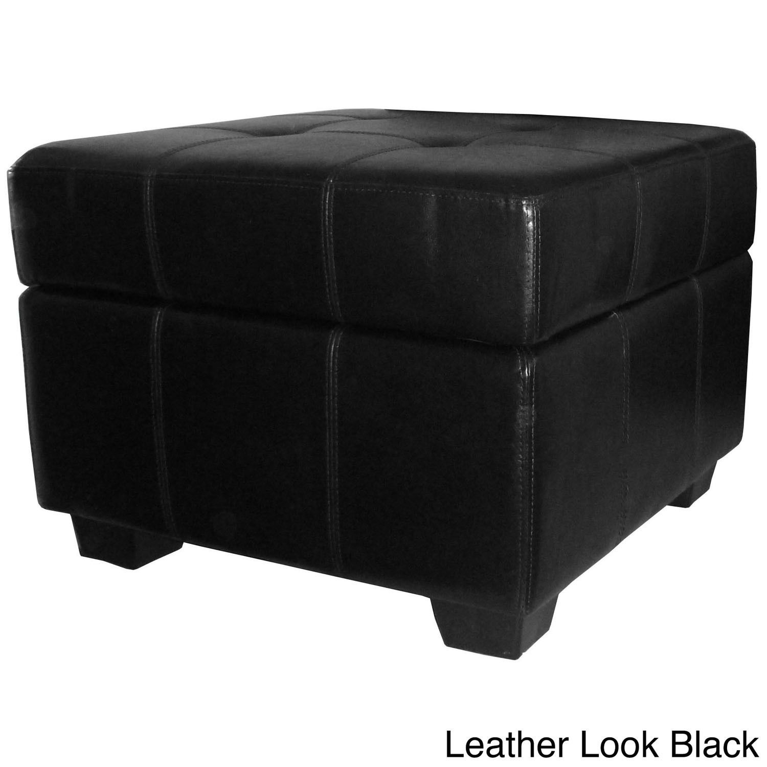 Bon Epic Furnishings Vanderbilt Tufted Padded Hinged 24 Inch Square Storage  Ottoman Bench | Overstock.com Shopping   The Best Deals On Ottomans