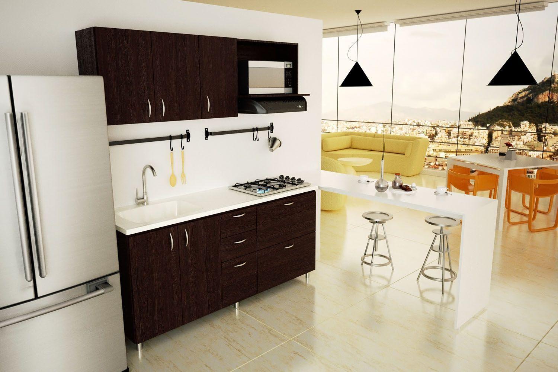 Disenos de cocinas integrales modernas hogar pinterest for Gabinetes cocina integral