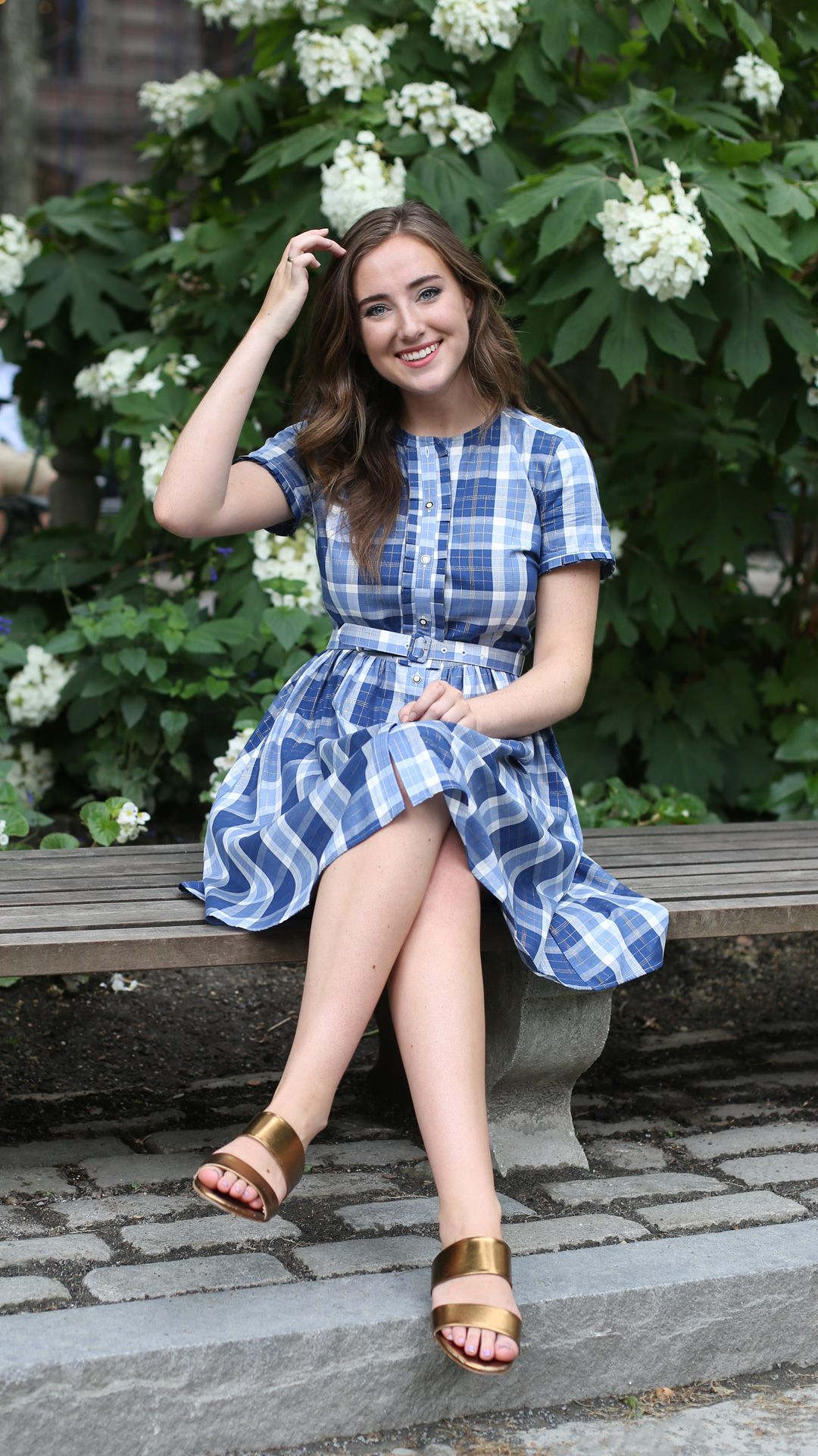 8d0aa2988fd Shimmer Plaid Cotton-Blend Twill Shirt Dress - Brooks Brothers ...