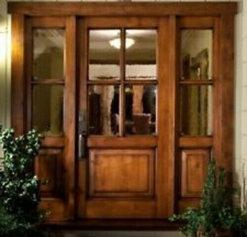 Knotty Alder 3068 Four Lite Entry Door Craftsman Style With 14 Matching Sidelites Entry Door Arrives Beautiful Front Doors Craftsman Door Wood Doors Interior