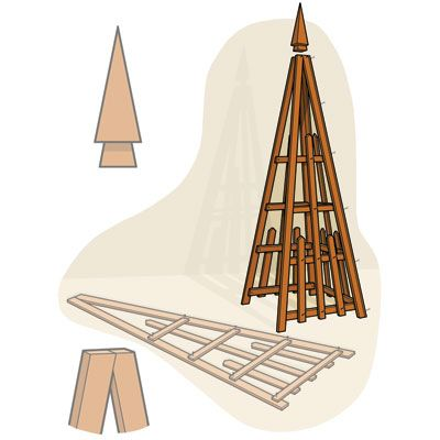 how to build a pyramid trellis gardens garden structures and