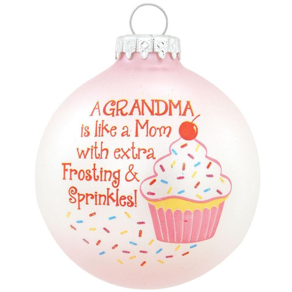 Grandma is like a mom ornament clear christmas ornaments