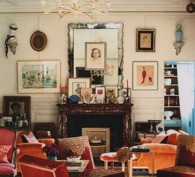 Hamish Bowles Bohemian Paris Apartment Velvet Furniture Antique Mirrors And Art What 39 S Not