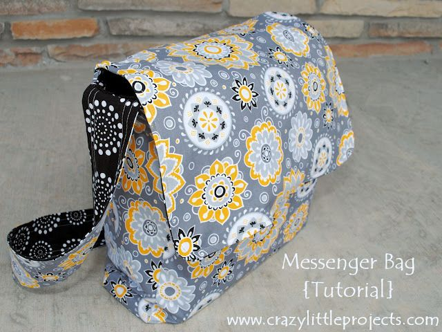 Messenger Bag Tutorial and Pattern | Craft & Sewing Ideas ...