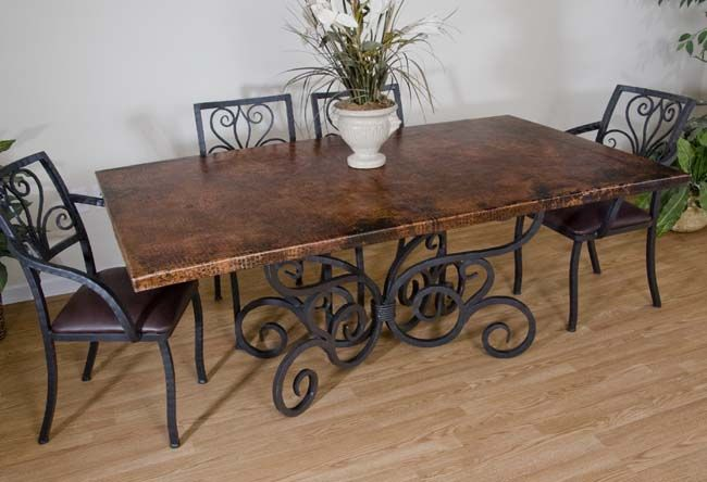 Copper And Iron Dining Table 255 Wrought Iron Dining Table