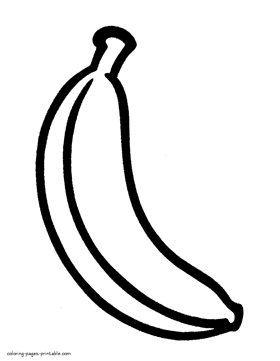 Printable Banana Coloring Page Plus Other Fruit Coloring Pages For Kids Fruit Coloring Pages Vegetable Coloring Pages Food Coloring Pages