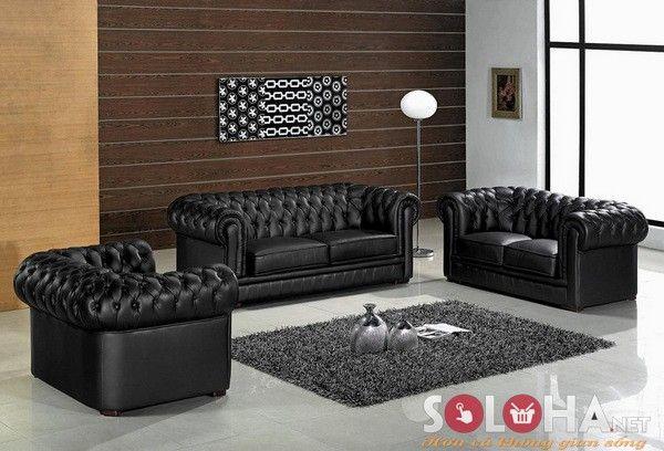 sofa phòng khách, thành ghế rút lõm thành ghế hoàn toàn, 1 văng + 2 ghế đơn http://pinterest.com/otungbro/sofa/  #sofasoloha, #sofaphongkhach