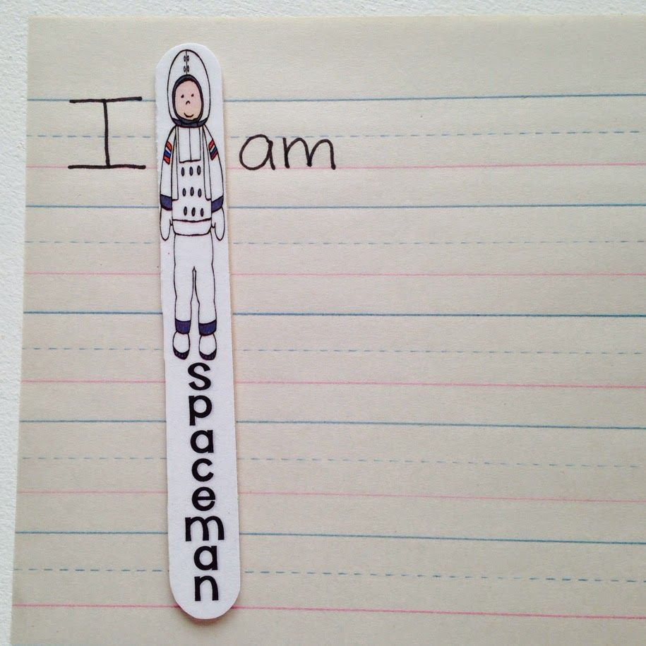 Free Download To Make Spaceman Sticks To Remind Students To Use