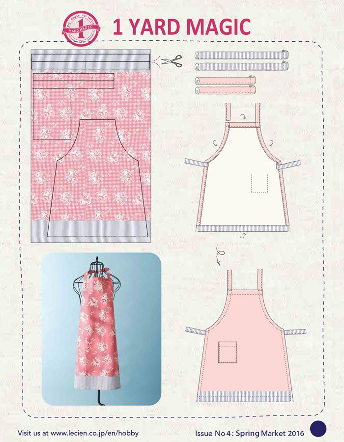 1 Yard Magic Apron from Lecien Fabrics! {free pattern} | Sewing ...
