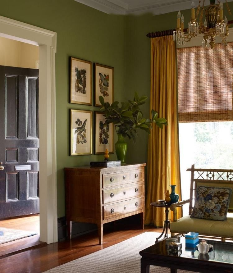 Peinture murale dans le salon et idées de déco en 25 photos | Salons ...