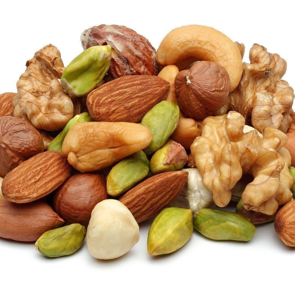 Nuts are definitely a superfood! They are full of healthy fats, fiber, vitamin E and plant sterols (which can naturally help to lower cholesterol). Watch the serving size though, they're also calorie-dense!Try raw almond butter on toast, or grab a handful of walnuts next time you need a snack.