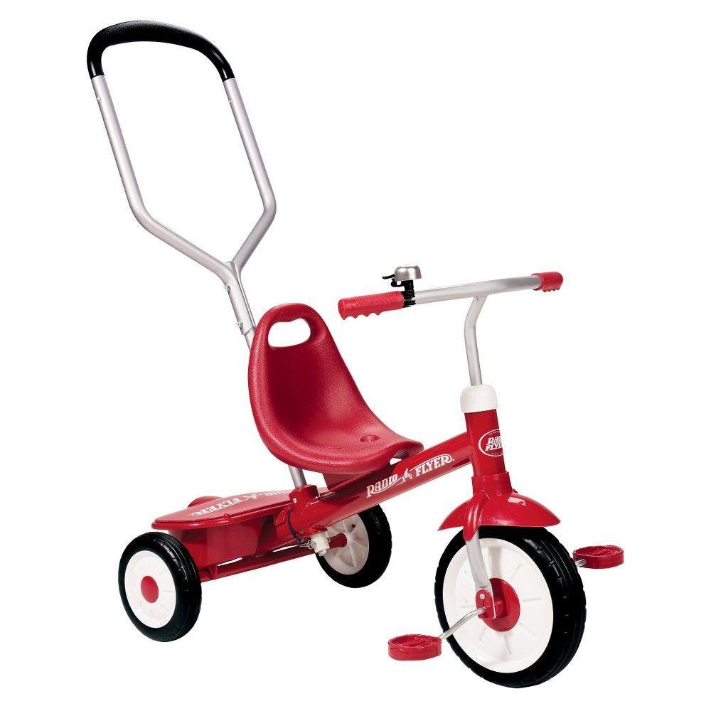 Radio Flyer Steer & Stroll Trike Red, Cherry Red Kids