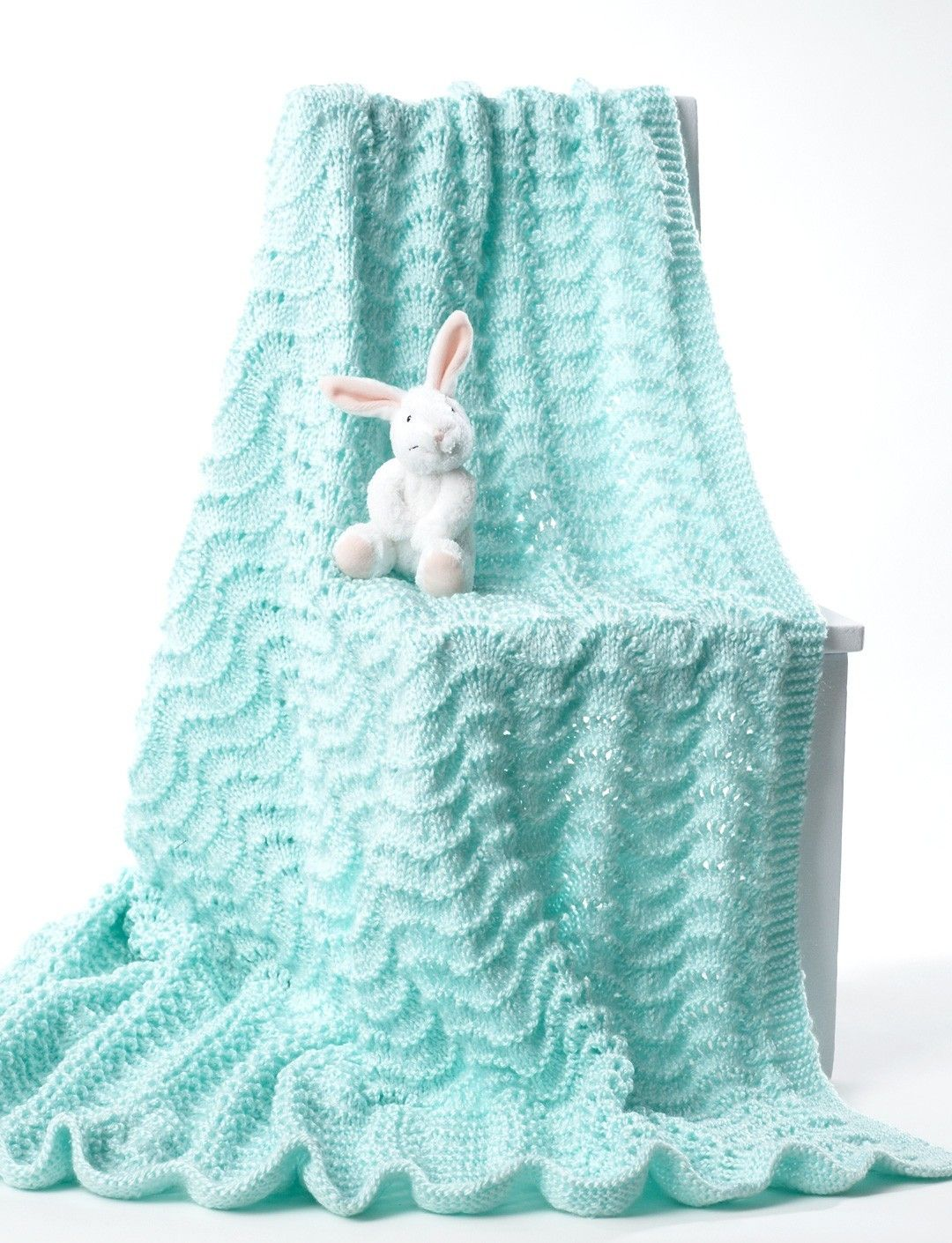Knit Baby Blanket in Bernat Softee Baby Solids. Discover more ...