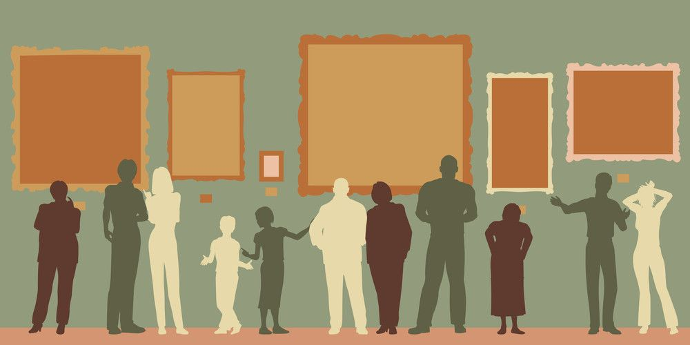 graphic of people within a museum or gallery Work Pinterest - visitor sign in sheet template