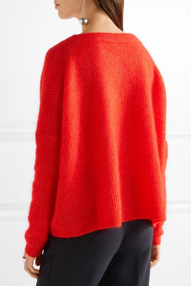 By Malene Birger - Claudetta Knitted Sweater - Tomato red | Shop ...