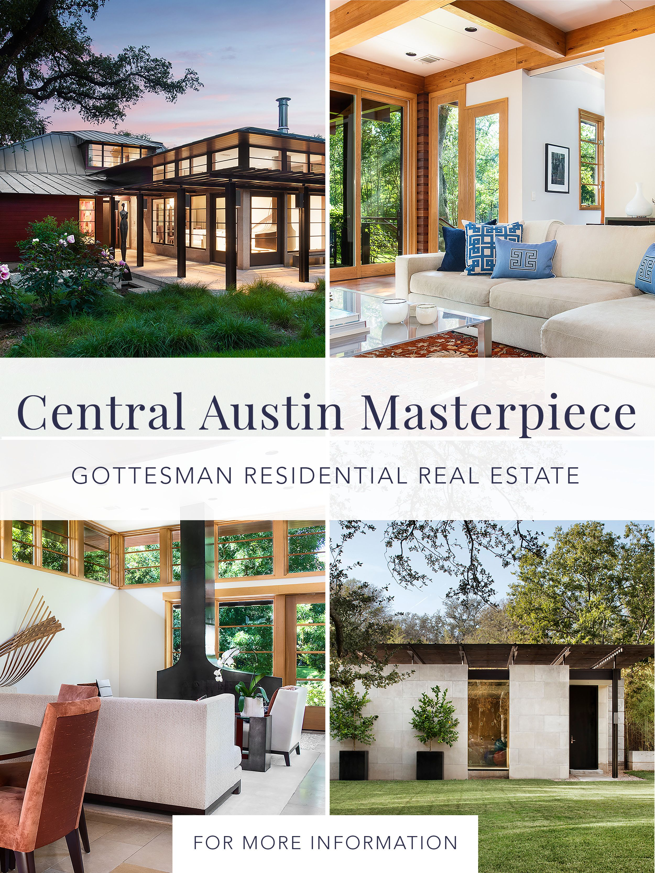 Central austin masterpiece townhouse designs new homes