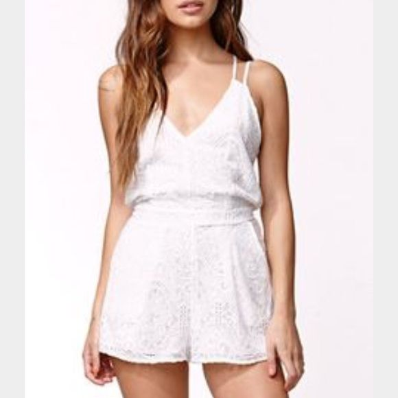452aec772cad Kendall   Kylie white lace romper This is THE perfect romper for summer! It  is