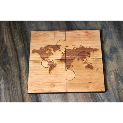 Richwood creations 4 piece world map puzzle coaster set products richwood creations 4 piece world map puzzle coaster set gumiabroncs Images