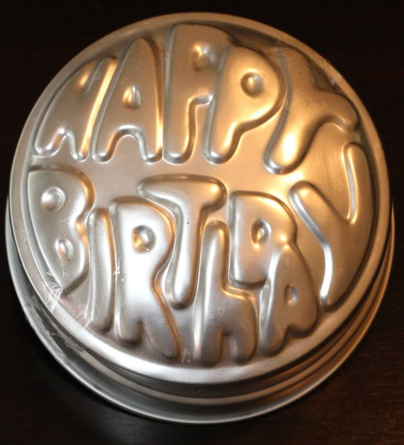 Vintage Wilton Happy Birthday Cake Pan Tin 1974 By Lath6400 999