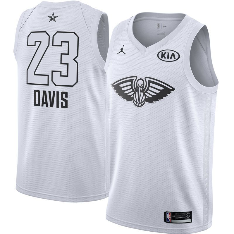 e138d0ad0bd Anthony Davis New Orleans Pelicans Jordan Brand 2018 All-Star Game Swingman  Player Jersey – White