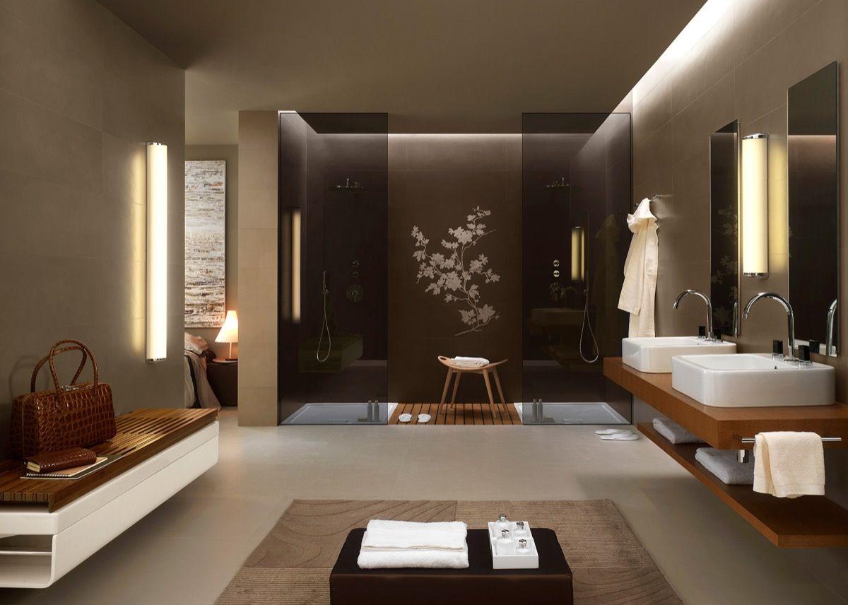 Beautiful Bathroom Designs Arrange With Unique And Trendy Decor Ideas Bathroom Inspiration Modern Bathroom Design Glass Bathroom Modern Bathroom Decor