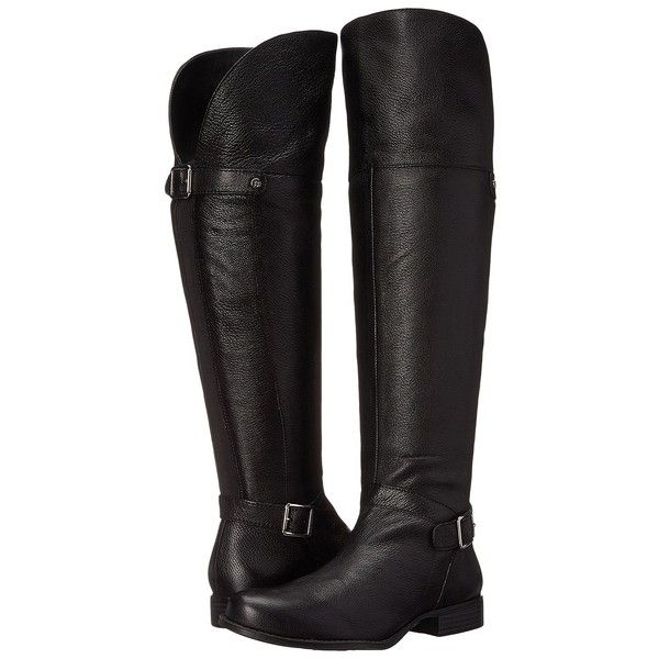 Naturalizer July (Black Leather) Women's Boots ($92) ❤ liked on Polyvore  featuring