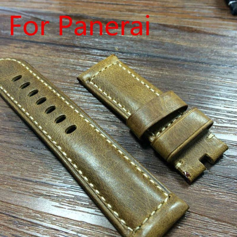>> Click to Buy << 24MM 26MM Burst Crack Oil Wax Retro Leather Leather Strap, Rough Watchbands  For P-Style Watch Without Buckle,Free Shiping #Affiliate