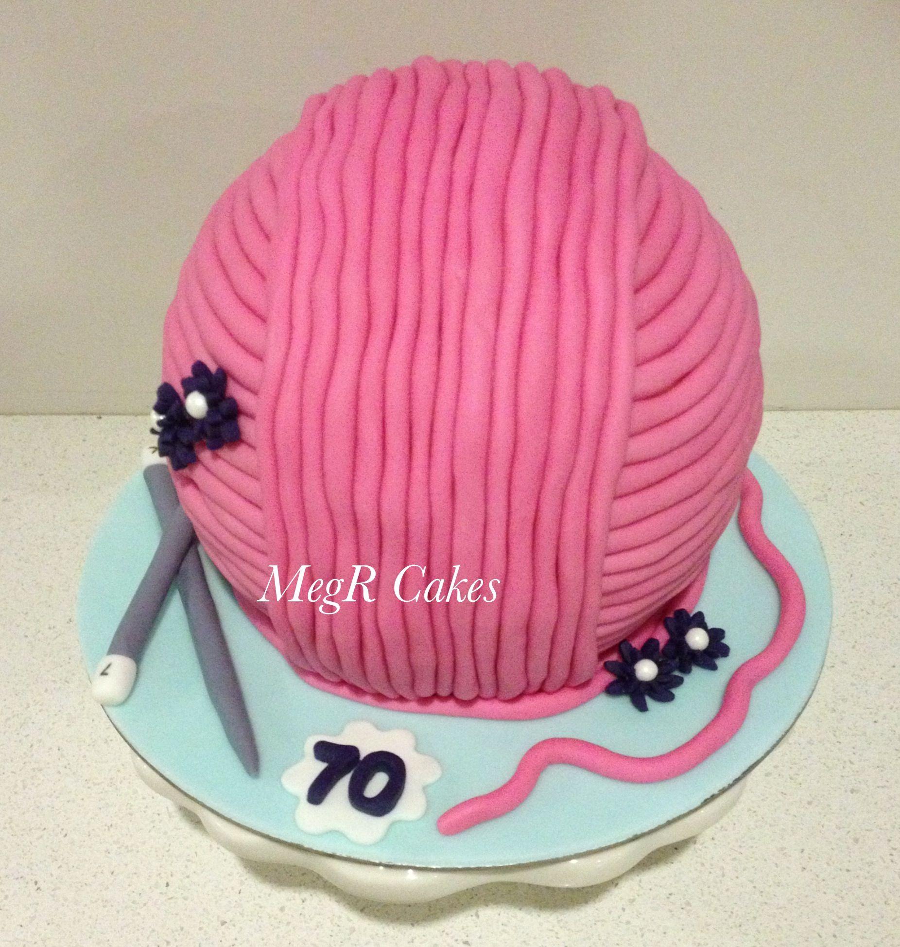 Mums 70th Birthday Cake Crochet Yarn Cake 70th Birthday Cake