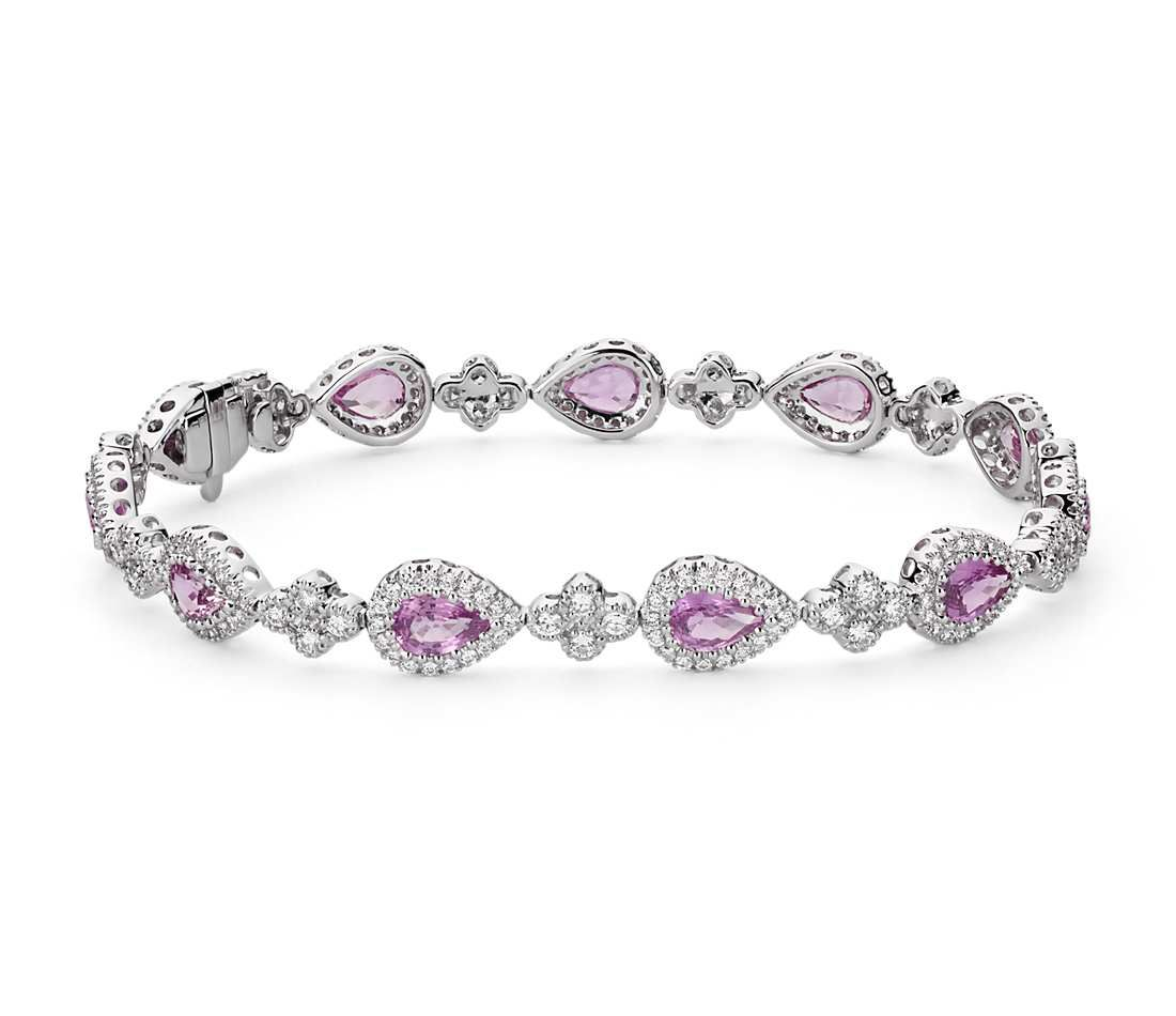 diamond shape bracelet fancy ct pink carat mix tw