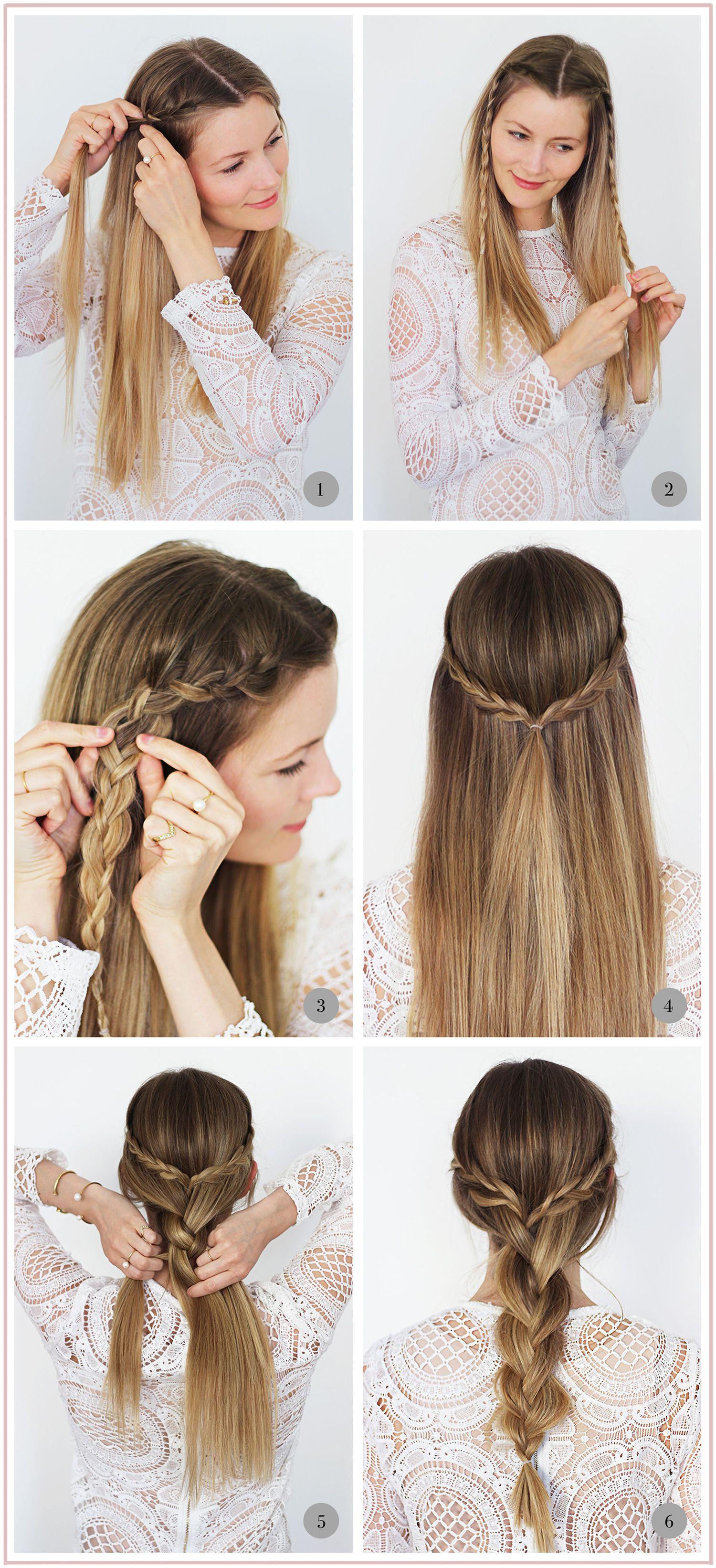 nemme frisurer til langt hår