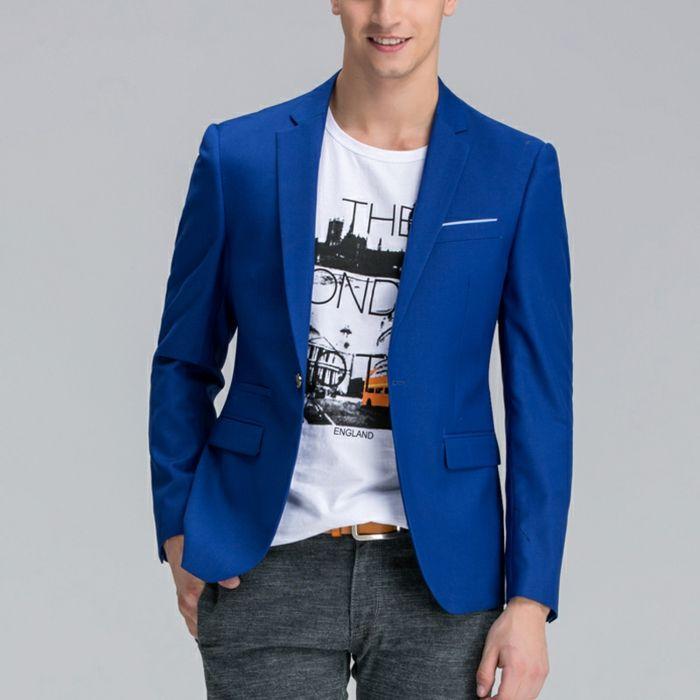 Veste homme bleu et noir