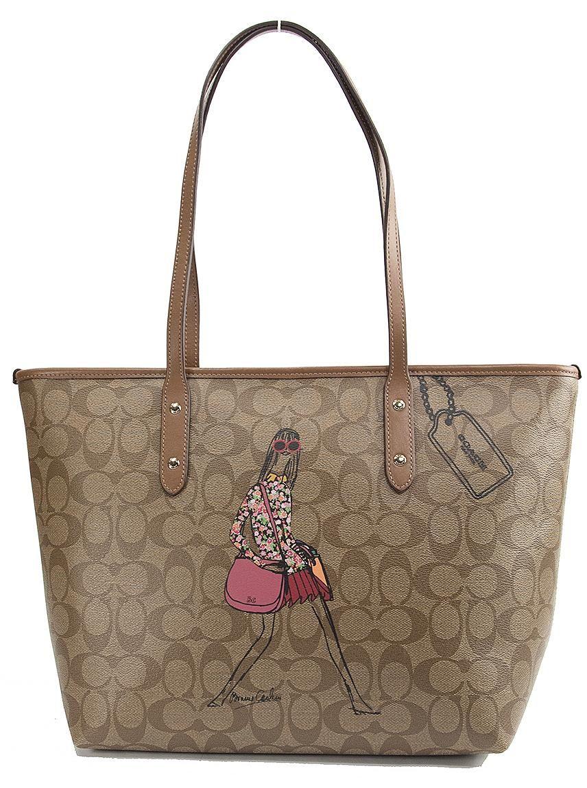 Coach 57617 Bonnie Cashin Khaki Signature City Zip Top Multicolor Tote Bag.  Get one of the hottest styles of the season! The Coach 57617 Bonnie Cashin  Khaki ... 10004eddc227a