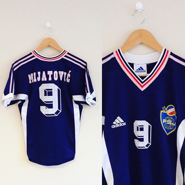 Just in is this vintage Adidas Yugoslavia home shirt from
