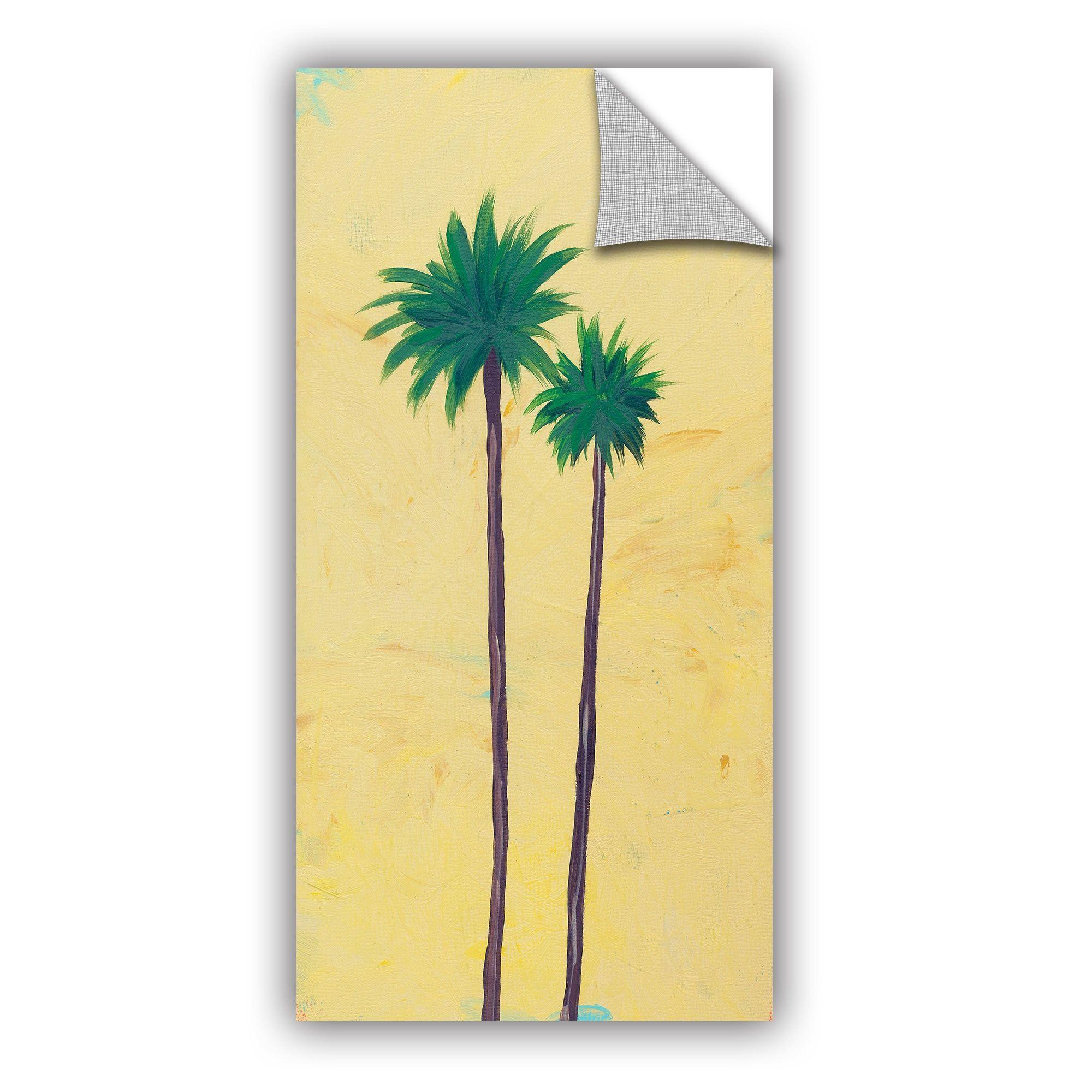 ArtWall ArtAppealz Jan Weiss\'s \'Yellow Twin Palms\' Removable Wall ...