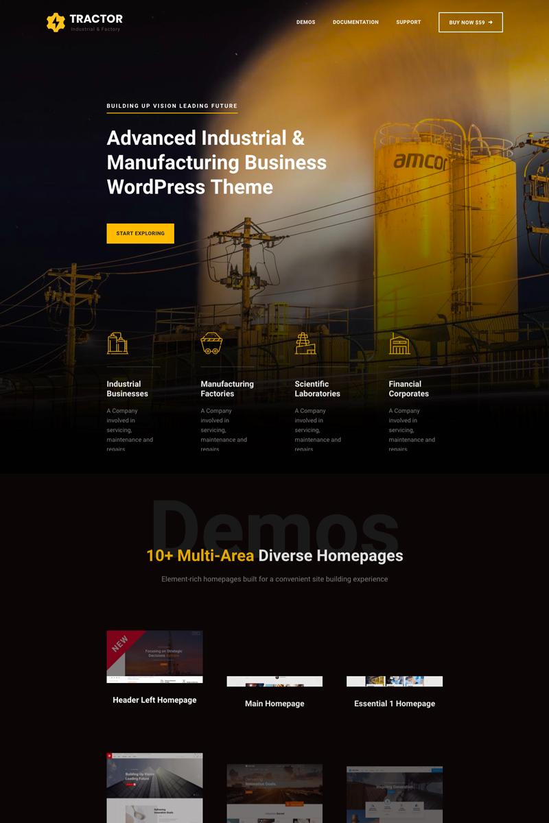 Tractor Industrial Manufacturing Wordpress Theme In 2020 Website Design Wordpress Minimal Website Design Custom Website Design