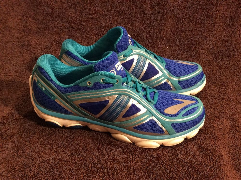 192062e361c2a Brooks PureFlow 3 Womens Lightweight Running Shoes Size 8 Turquoise ...