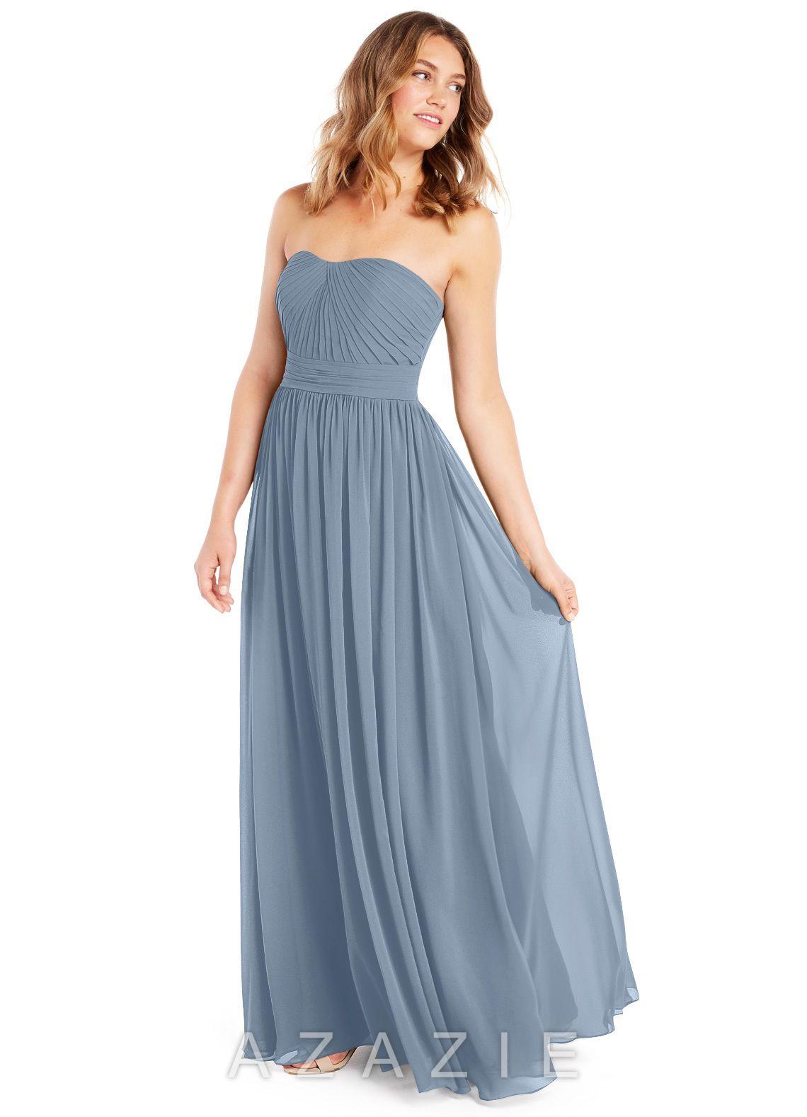 981f22908da Azazie Milagros Bridesmaid Dress - Dusty Blue
