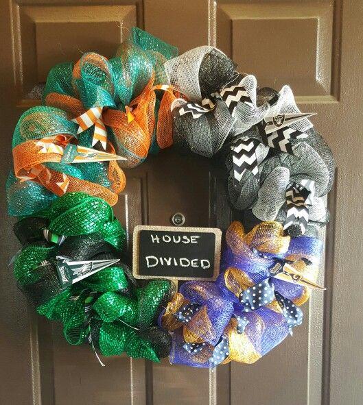 House divided football wreath