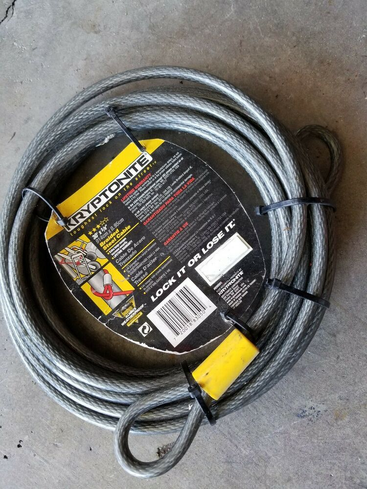 Kryptonite KryptoFlex Braided Steel 3010 Loop Lock Cable  30/' 914cm x 3//8/'/' 10mm
