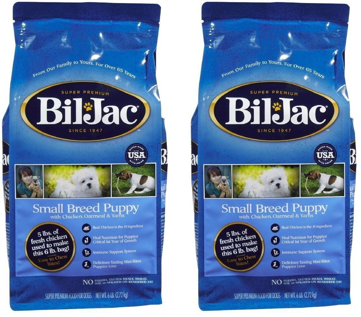 (2 Pack) BilJac Small Breed Select Puppy Food 6Pound