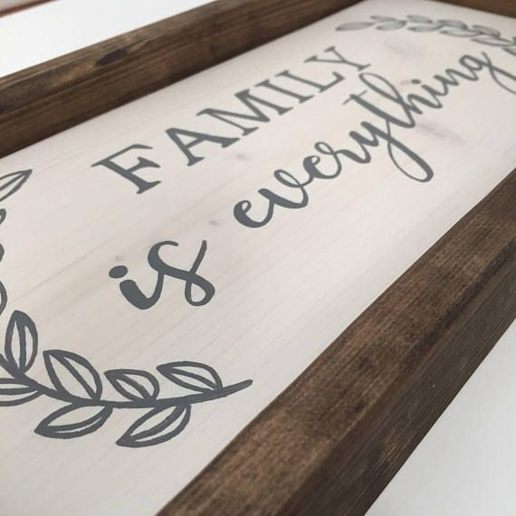 Best of Family is Everything Sign Rustic Wood Decor Farmhouse style Contemporary - Fresh rustic wood decor Photos