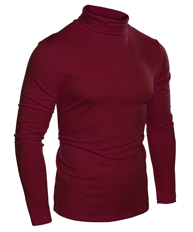 597e0cb9c06f66 Mens Casual Basic Slim Fit Long Sleeve Thermal Turtleneck T-Shirts - Wine  Red - C4184QAMXQT,Men's Clothing, T-Shirts & Tanks, T-Shirts #men #fashion  #style ...