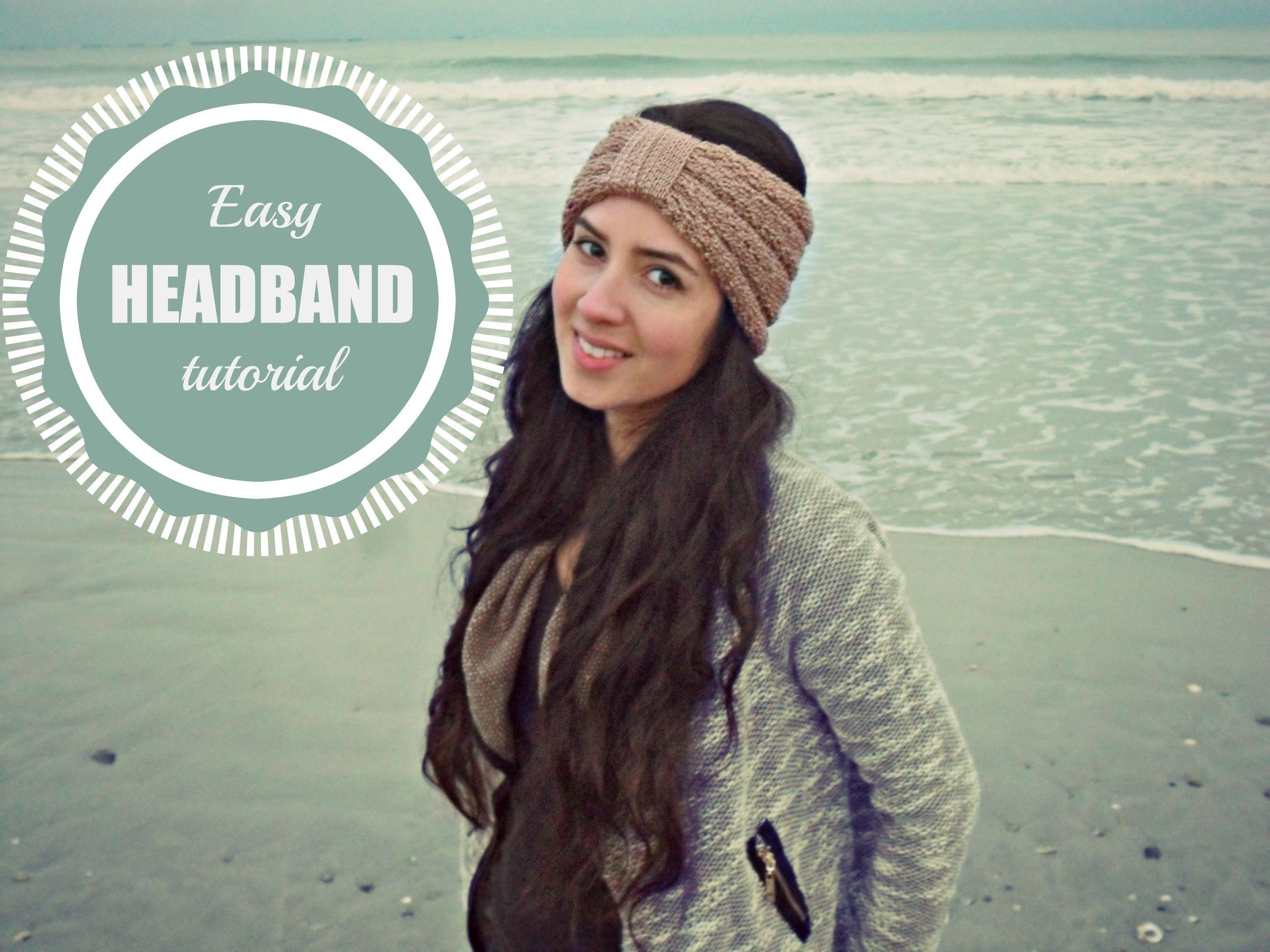 how to loom knit a easy headband ear warmer on a round loom diy