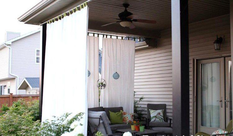 Rideau véranda - idées esthétiques pour agrémenter votre extérieur ! | Rideaux en plein air ...