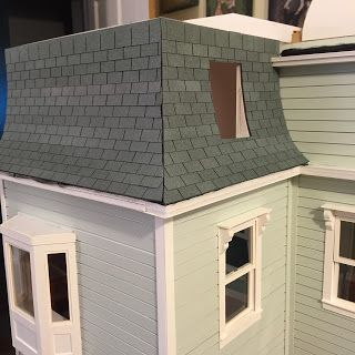 Dollhouse Roof Shingles Using Card Stock And Stone Spray Paint Roof Shingles Rustic Pergola Roofing