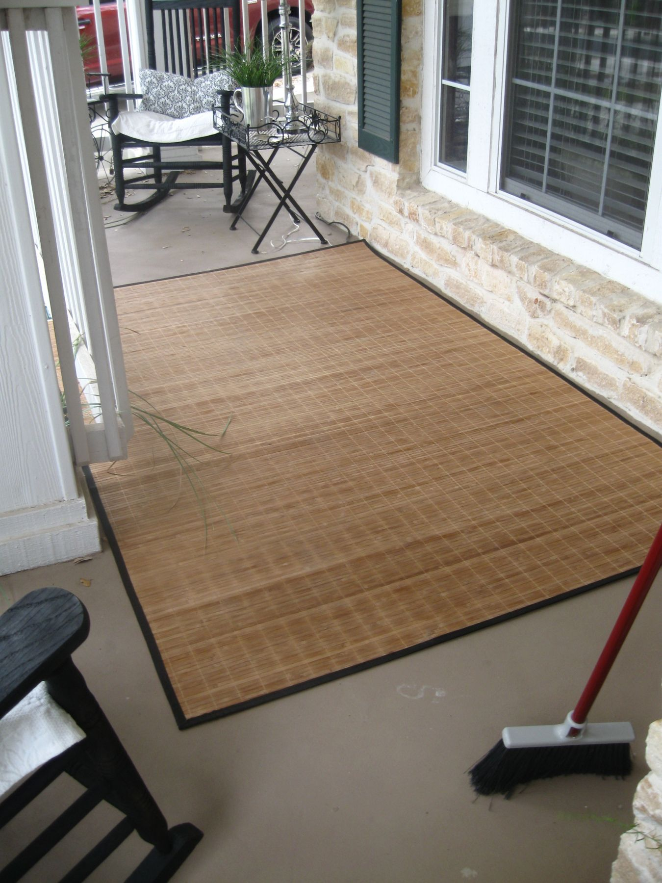 Bamboo Rug With Images Porch Rug Diy Front Porch Bamboo Rug